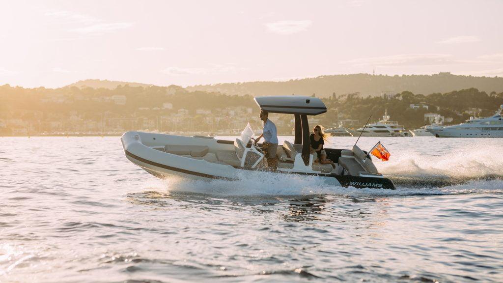 Fast turning Evojet 70 Superyacht tender by Williams Jet Tenders