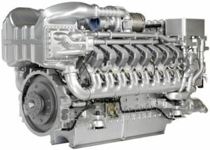 MTU Rolls Royce 12V 2000 M70 marine propulsion engine