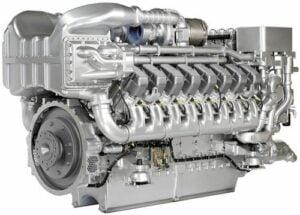 MTU 16V 2000 M70 marine propulsion engine