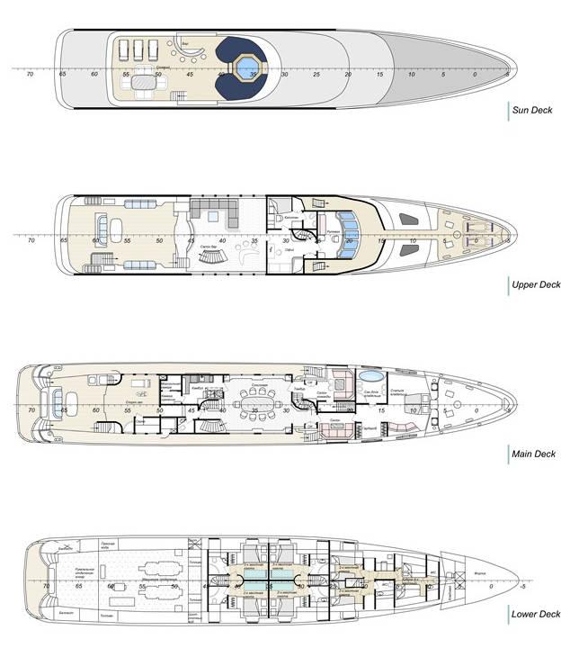 Superyacht Saint Nicholas deck plan