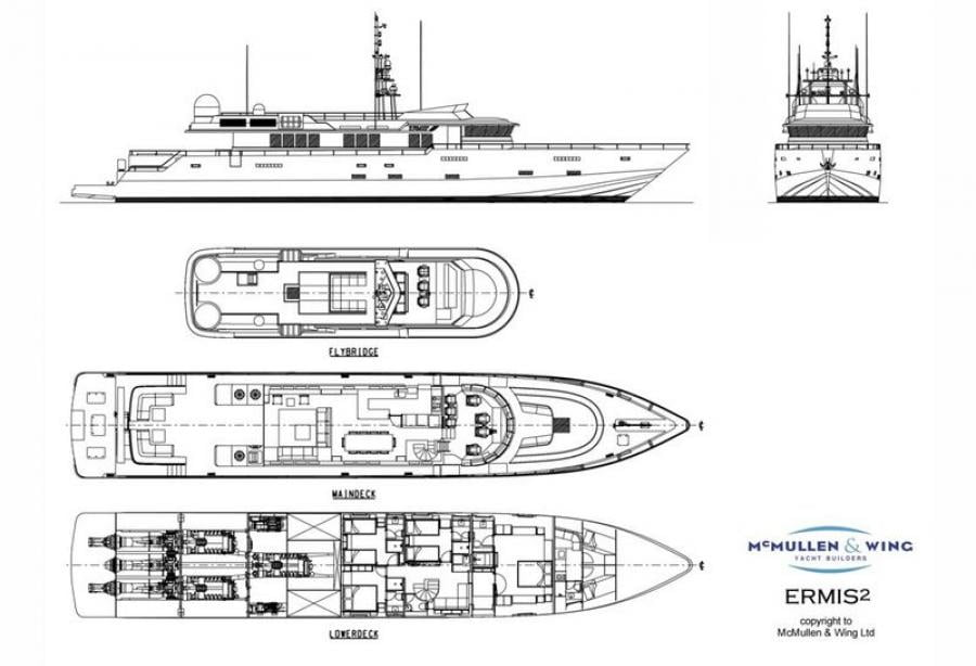 Superyacht Ermis2 Deck Plan/GA