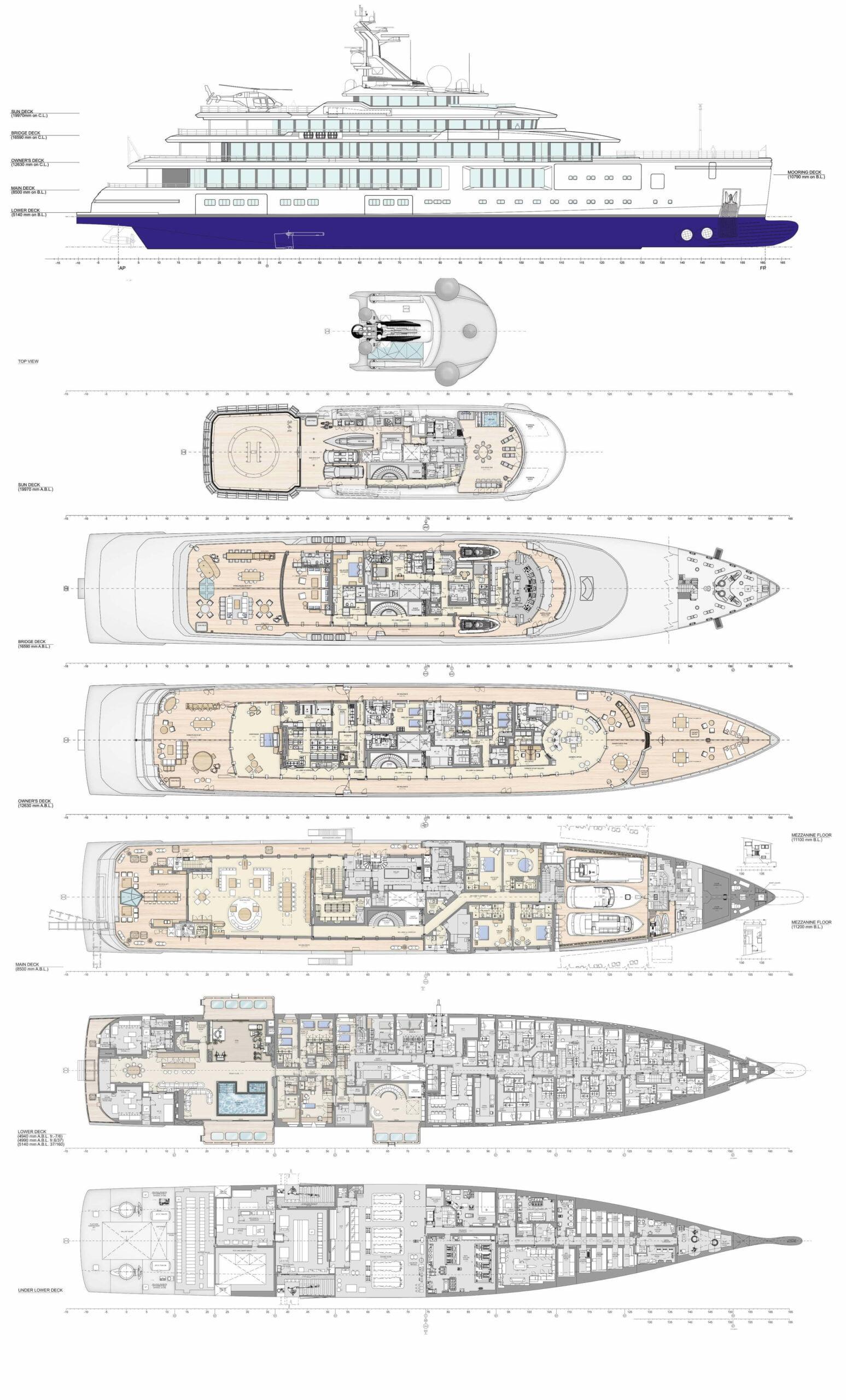 Luminosity Benetti 2020 Complete Deck Plan