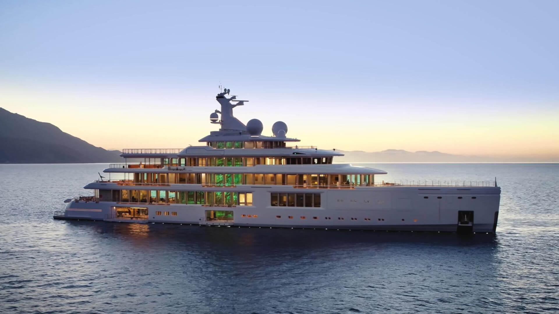 Luminosity Benetti Superyacht Evening Open Decks and Lighting