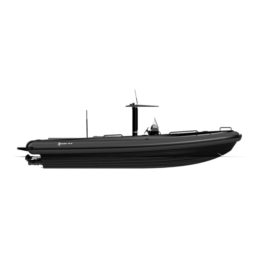 Xtender 10.0m drip Beach Lander - All Black