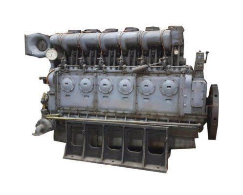 Old marine diesel engine